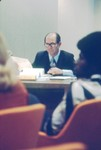 Photograph of Regent Quentin Abernathy at a 1976 meeting of the TEU Board of Regents by University of Texas at Tyler