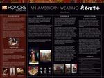 An American Wearing Kente
