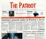 The Patriot Vol. 31 no. 1