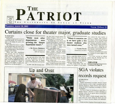 The Patriot/Texas Eastern Patriot | Student Newspapers