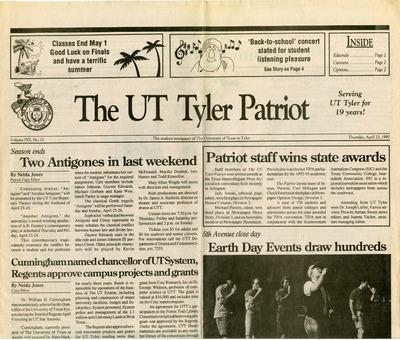 The UT Tyler Patriot | Student Newspapers | University of